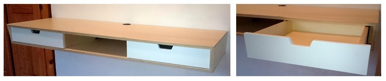 zwevend bureau home. Black Bedroom Furniture Sets. Home Design Ideas